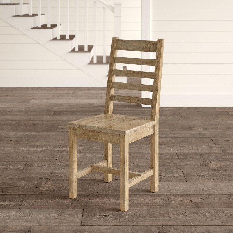 Kinston Solid Wood Ladder Back Side Chair in Desert Gray
