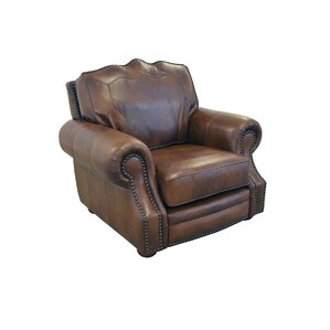 Westland and Birch Winchester Genuine Top Grain Leather Club Chair Image