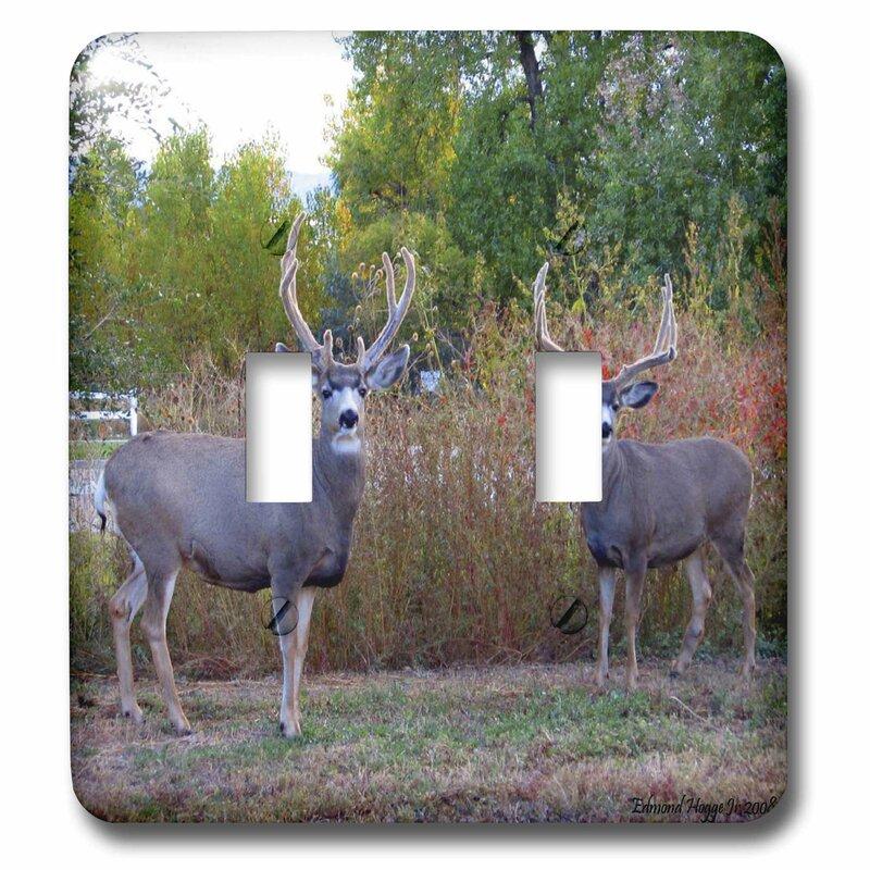 3drose Deer 2 Gang Toggle Light Switch Wall Plate Wayfair