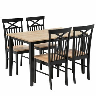 Valmeyer Dining Set With 4 Chairs By ClassicLiving