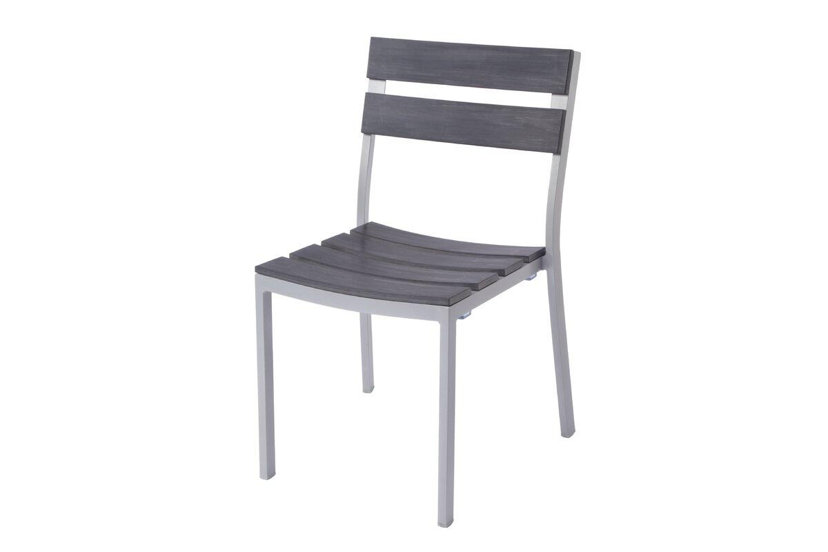 Madbury Road Milloy Stacking Teak Patio Dining Chair