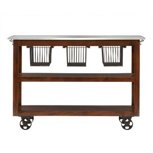 Phoenicis Kitchen Cart with Foil Top by August Grove