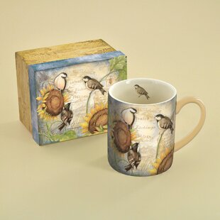 14 oz. Sunflower Birds Mug