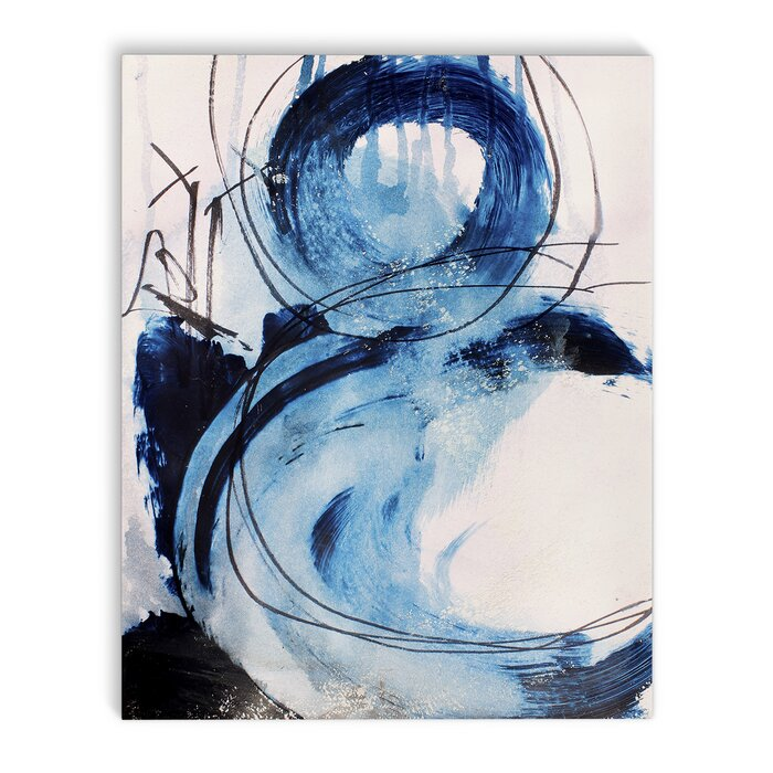 Blue Abstract Painting Print On Canvas