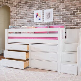 Great3 Low Loft Bed with Storage by Maxtrix Kids