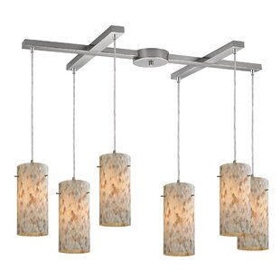 Roehampton 6-Light Cluster Pendant by Beachcrest Home