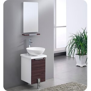 Adour 17″ Single Modern Bathroom Vanity Set with Mirror