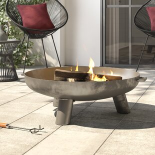 Rodrigez Steel Wood Burning/Charcoal Fire Pit By Sol 72 Outdoor
