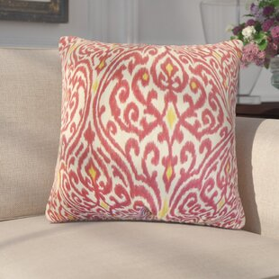 Arcelia Ikat Cotton Throw Pillow (Set of 2)