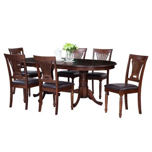 Doretha 7 Piece Solid Wood Dining Set 2019 Sale
