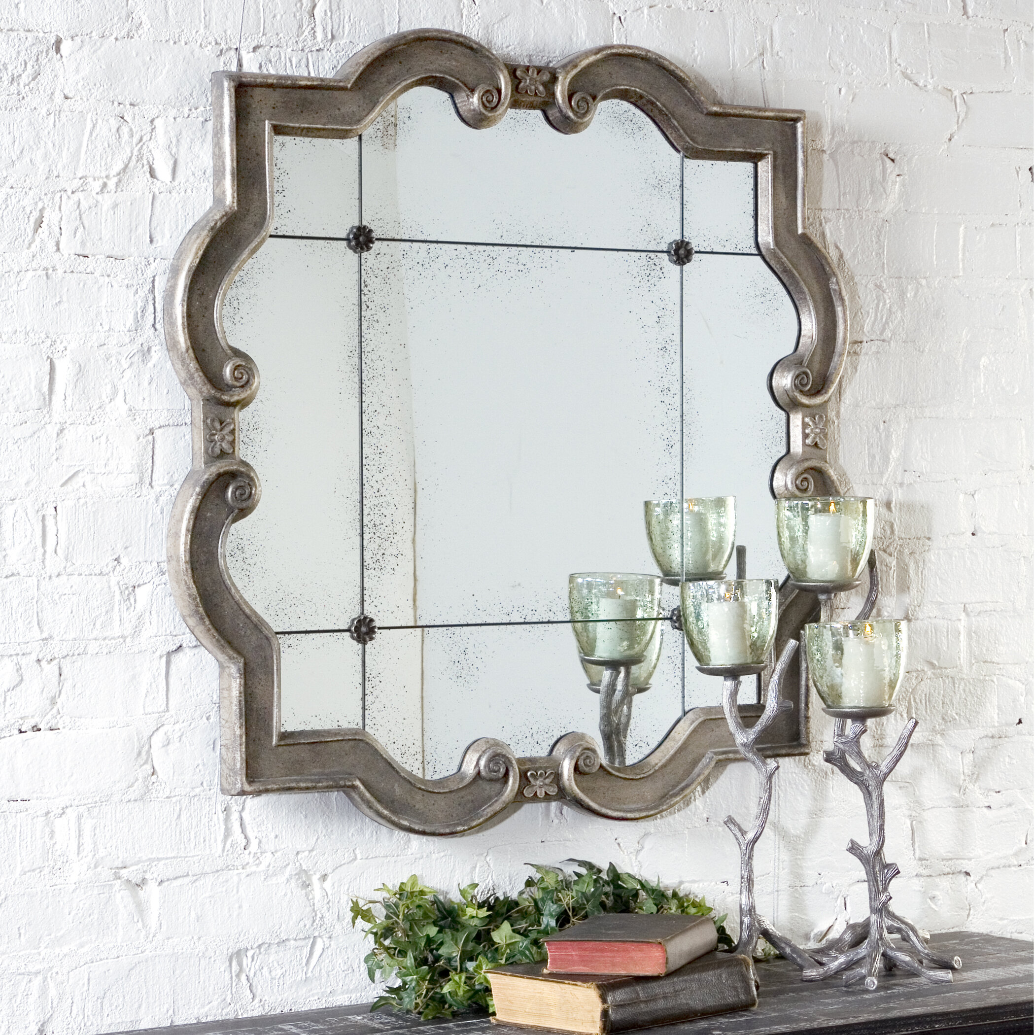 One Allium Way Selina Etched Mirror Reviews Wayfair