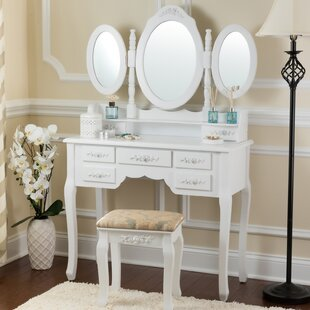 Astoria Grand Bensenville Vanity Set with Mirror