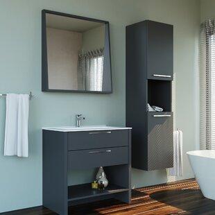 Nico Modern 39 Single Bathroom Vanity Set with Mirror by Orren Ellis