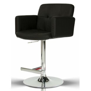 Belafonte Adjustable Height Swivel Bar Stool by Wade Logan