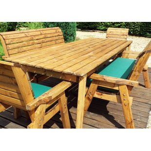 Fischer 8 Seater Dining Set With Cushions By Union Rustic
