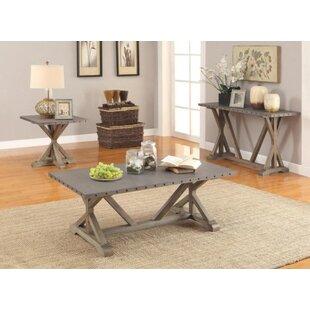 Fabienne 3 Piece Coffee Table Set Gracie Oaks 2018 Sale