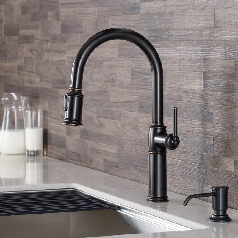 Kraus Sellette Pull Down Single Handle Kitchen Faucet Reviews Wayfair
