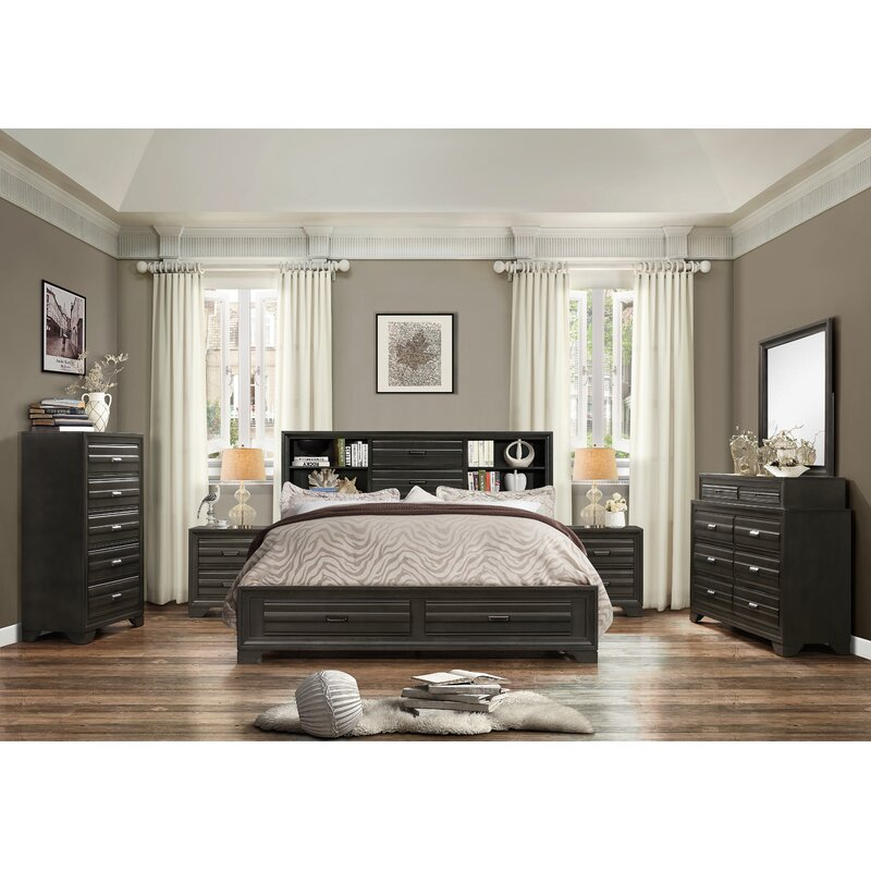 World Menagerie Blasco Wood 6 Piece Bedroom Set