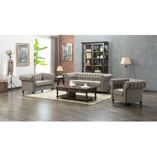 Teressa 3 Piece Living Room Set