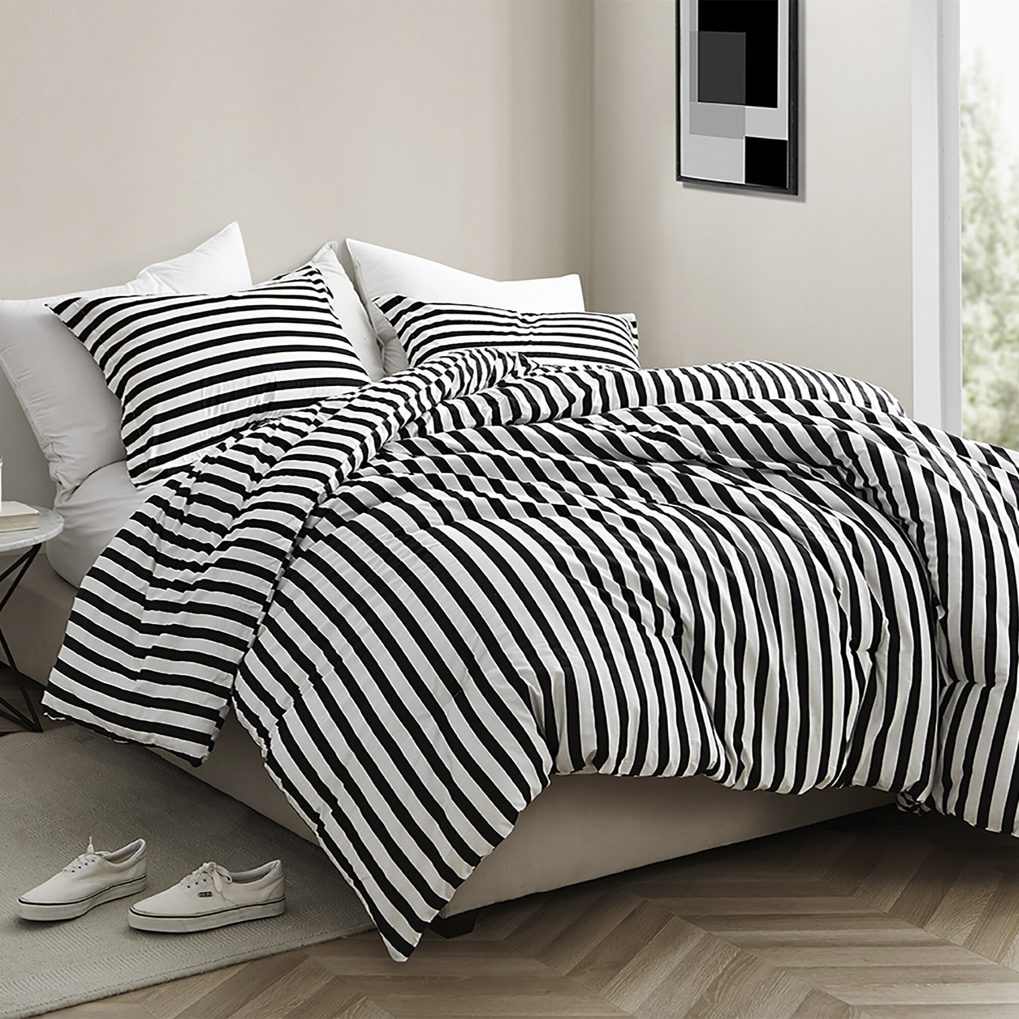 Wrought Studio Dorcaster Striped Comforter Set & Reviews | Wayfair