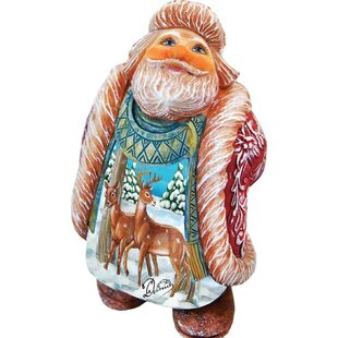 Outdoor Wood Santa Figurines You Ll Love In 2021 Wayfair