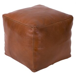 Affordable Moroccan Leather Pouf By Casablanca Market