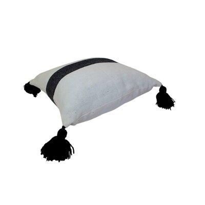 Mistana Juno Pom Pom Pillows Color: Black on White