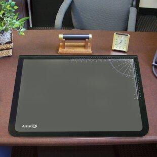 Rebrilliant Echavarria Logo Pad Lift-top Desktop Organizer Desk Mat