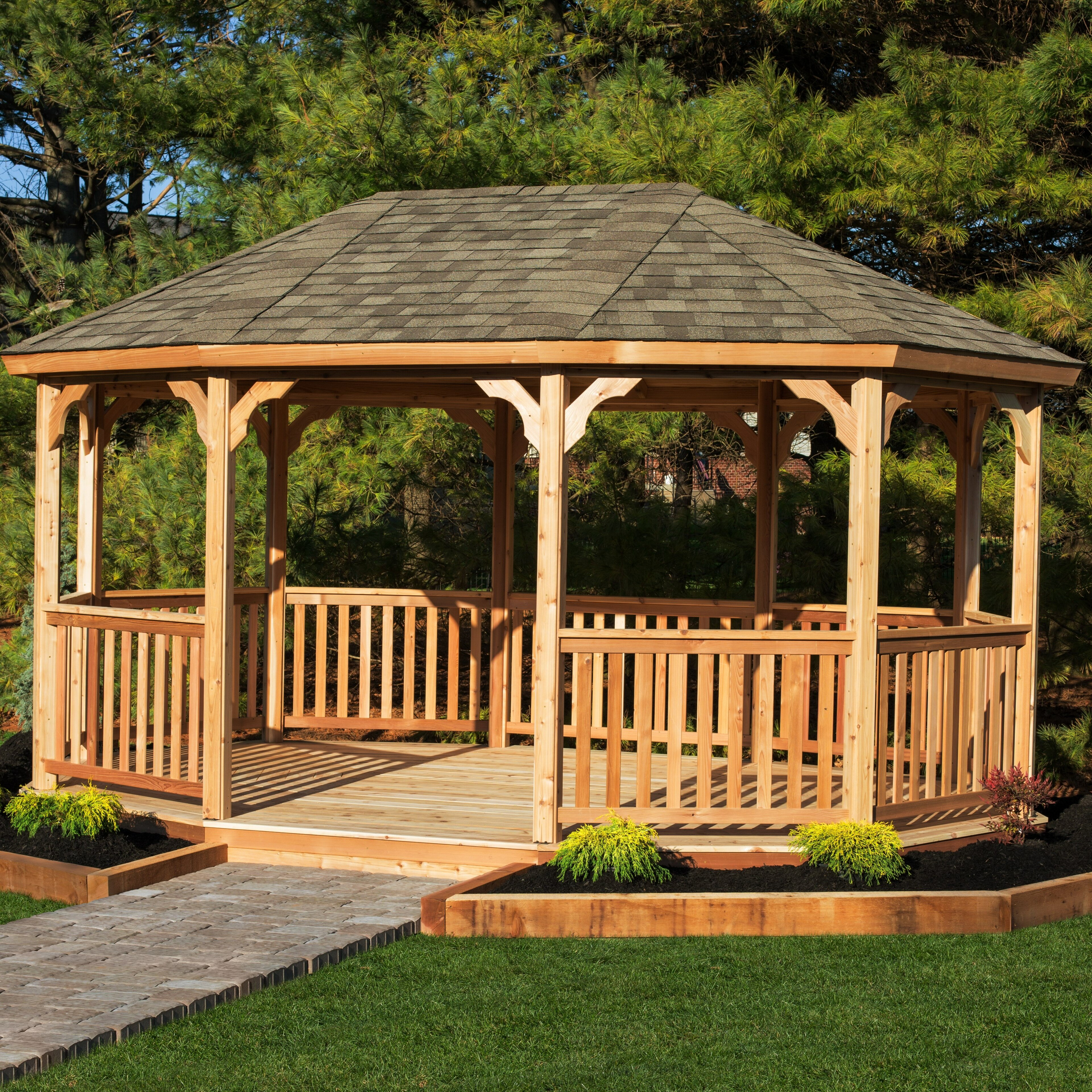 X 12 Ft D Solid Wood Patio Gazebo
