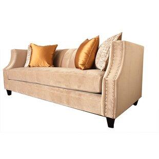Aleigh Velvet 92 Square Arm Sofa by Red Barrel Studio