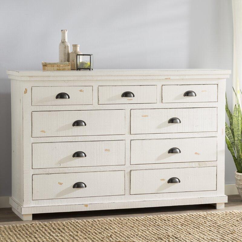 Castagnier 9 Drawer Dresser With Mirror