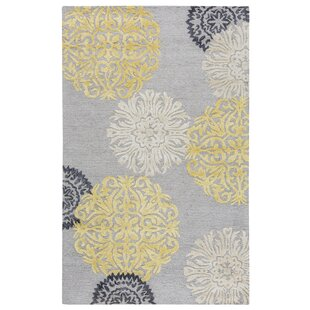 Constanta Hand-Tufted Gray/Yellow Area Rug by Meridian Rugmakers