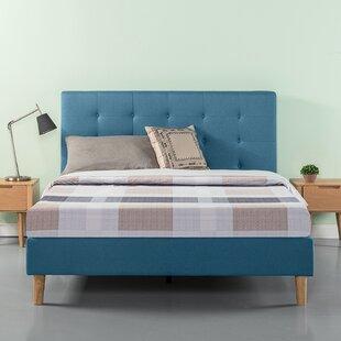 Wrought Studio Atkison Button Tufted Upholstered Platform Bed