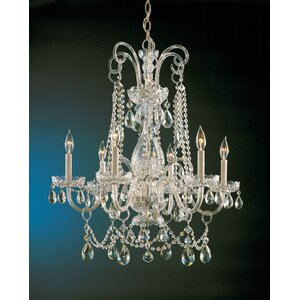 Waterfall 6-Light Crystal Chandelier
