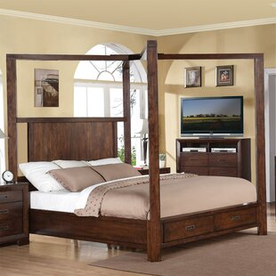 Lancaster Storage Canopy Bed by Loon Peak