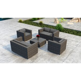 Orren Ellis Gilleland 5 Piece Sofa Set with Sunbrella Cushion