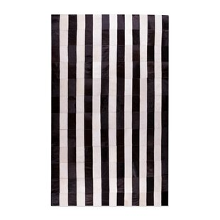 Inexpensive Manan Hand-Tufted Cowhide Black/White Area Rug By 17 Stories