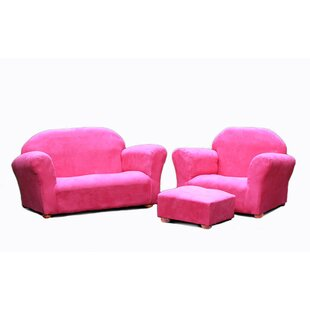 Compare Jovanni 3 Piece Kids Chair and Sofa and Ottoman By Zoomie Kids