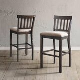 Kenworthy Slat Back 30 Bar Stool (Set of 2) by Three Posts