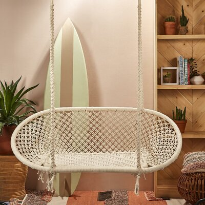 Macedo Macramé Double Chair Hammock by Rosecliff Heights Find