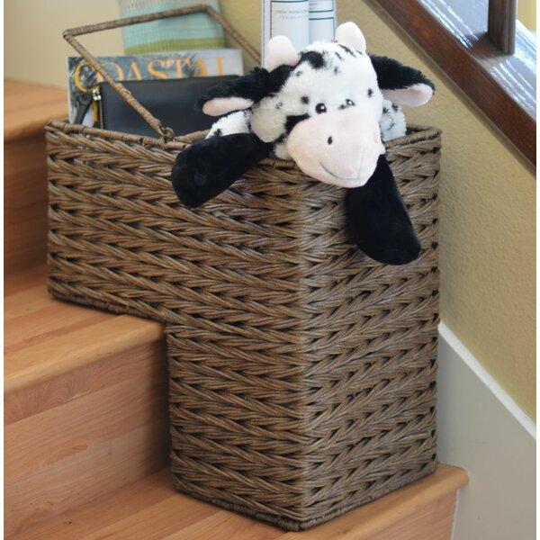 Kouboo Sweater Weave Handwoven Wicker Stair Step Basket U0026 Reviews | Wayfair
