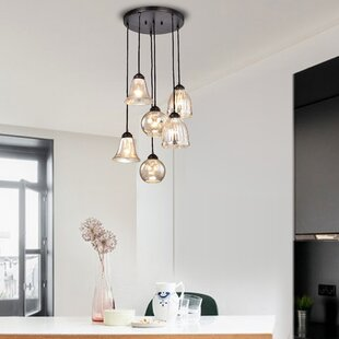 Psyche 6-Light Cluster Pendant By Gracie Oaks Ceiling Lights