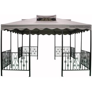 Vignola 15 Ft. W x 15 Ft. D Metal Patio Gazebo by Pacific Currents