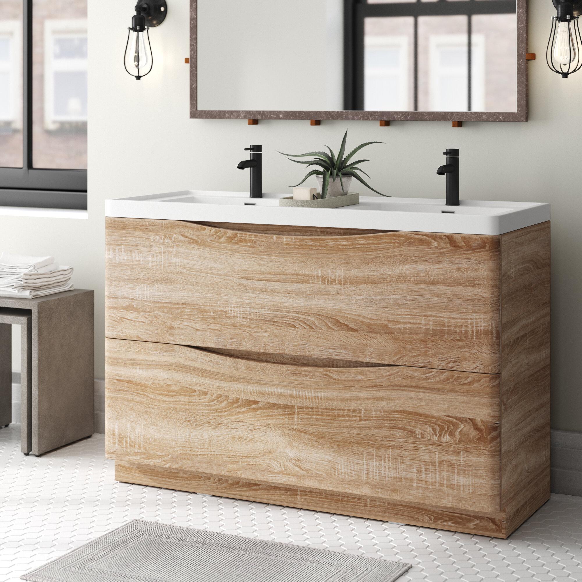Blondene 48 Double Bathroom Vanity Set