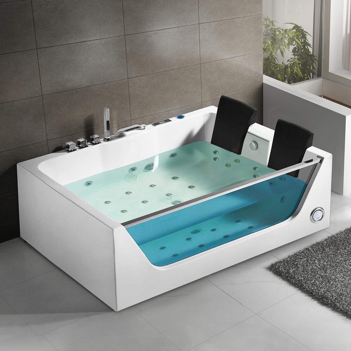 Decoraport 71 X 47 Freestanding Whirlpool Bathtub Wayfair