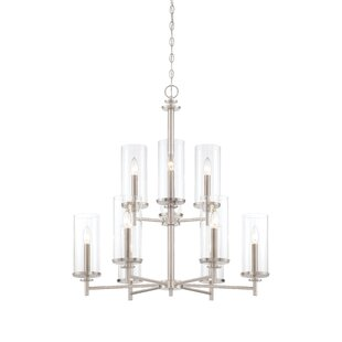 Designers Fountain Harlowe 9-Light Shaded Chandelier