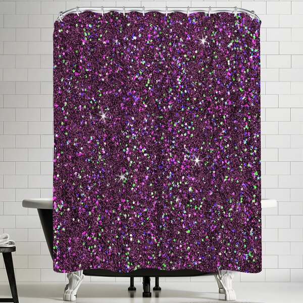 East Urban Home Hohenwald Wonderful Dream Purple Shiny Single Shower Curtain Wayfair