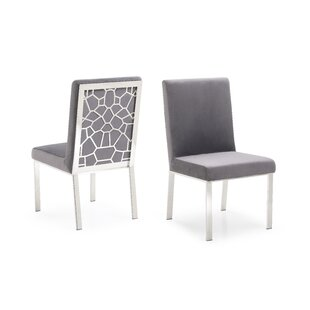 Middlet Modern Upholstered Dining Chair (Set of 2) Everly Quinn