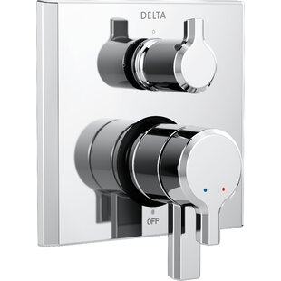 Delta Pivotal Monitor 17 Series Double Handle Valve Trim with 3-Setting Diverter