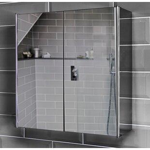 Bathroom Double 45cm X 45cm Recessed Mirror Cabinet